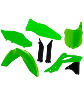 KIT PLASTICOS VERDE NEON  KAWA KXF 250 ' 2013-16