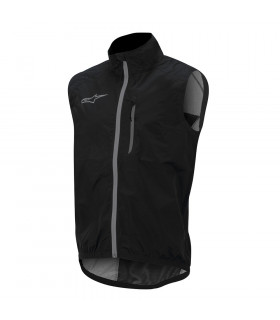 CHALECO ALPINESTARS DESCENDER WINDPROOF (NEGRO/PLATA)