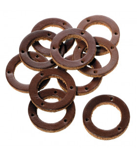 TEN BROWN LEATHER WASHERS FOR GRIP