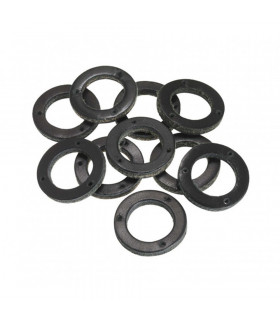 TEN BLACK LEATHER WASHERS FOR GRIP