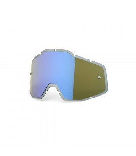 LENTE RECAMBIO HIPER BLUE MIRROR ANTI-FOG INJECTED (RACECRAFT/ACCOURI/STRATA)