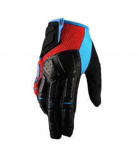 100% SIMI GLOVES (RED/CYAN)