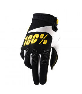 100% AIRMATIC GLOVES (BLACK/YELLOW)
