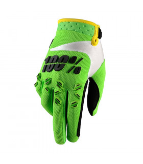 100% AIRMATIC GLOVES (LIME GREEN)