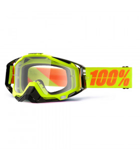 100% RACECRAFT NEON SIGN   GOGGLES  (CLEAR LENS)