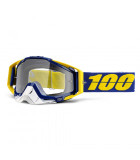 100% RACECRAFT LINDSTROM  GOGGLES (CLEAR LENS)
