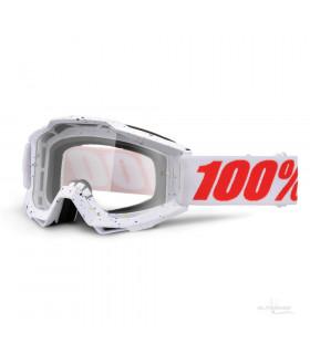 MÁSCARA 100% ACCURI SKYLAR  WHITE (LENTE TRANSPARENTE)