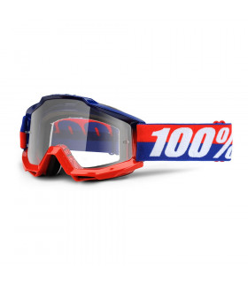 100% ACCURI FEDERAL GOGGLES  (CLEAR LENS)