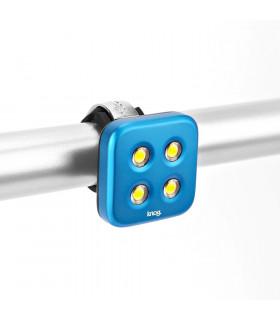 LUZ DELANTERA KNOG BLINDER 4 LEDS (AZUL)