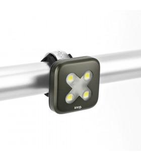"""KNOG BLINDER 4 LED FRONT LIGHT (""""X""""/GUNMETAL)"""