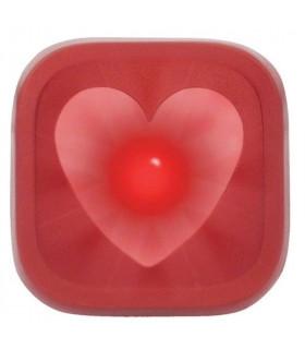 KNOG BLINDER 1 REAR LED BIKE LIGHT (HEART/RED)