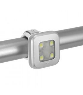 LUZ DELANTERA KNOG BLINDER 4 LEDS (SQUARE/PLATEADA)