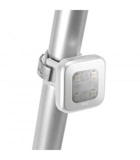 KNOG BLINDER 4 LED REAR BIKE  LIGHT (SQUARE/SILVER)