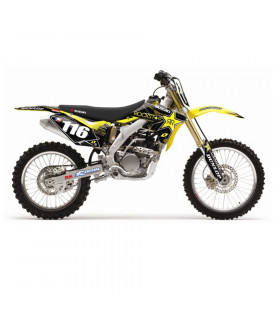 """10 ROCKSTAR"" GRAPHICS KIT + SEAT COVER RM-Z 250 (2010-11)"