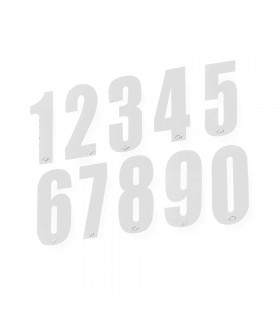 UFO WHITE RACING NUMBERS STICKERS (10 UNITS PACK)