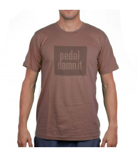 CAMISETA NINER PEDAL DAMN IT (MARRÓN)