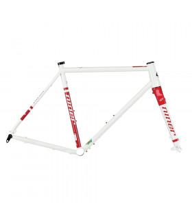 CUADRO NINER RLT 9 DE ACERO (DIRTY WHITE/RINGER RED)