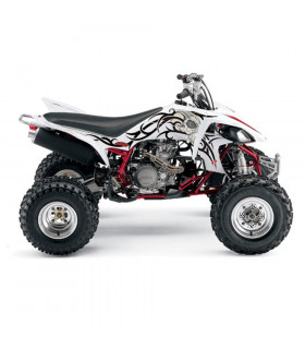 """TATOO WHITE"" GRAPHICS KIT + SEAT COVER QUAD YZF 450"