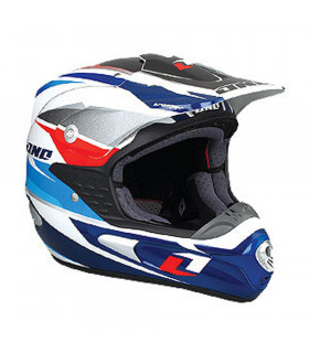 CASCO ONE INDUSTRIES TROOPER MX AZUL/BLANCO (TALLA XS)