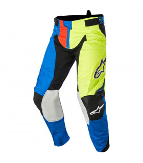 PANTALON MX ALPINESTARS TECHSTAR FACTORY  AZUL/AMARILLO/ROJO.