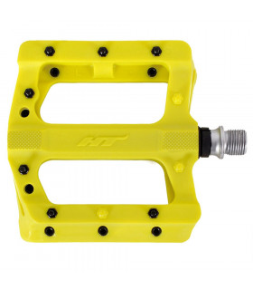 HT PA01 MTB PEDALS WITH METAL PINS (NEON YELLOW)