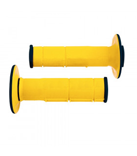 PUÑOS DOBLE INYECCION RACING  AMARILLO 118 mm