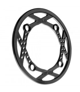 PILO ALUMINIUM BASH GUARD  RING 34T (BLACK)