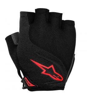 ALPINESTARS PRO-LIGHT SHORT FINGER GLOVES (BLACK/RED)