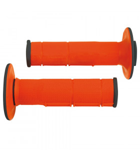 PUÑOS DOBLE INYECCION RACING  NARANJA 118 mm