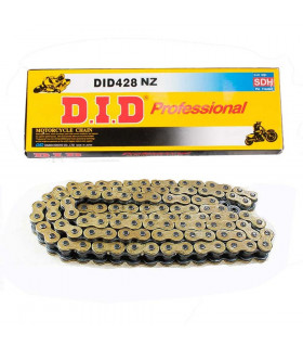 CADENA DID 428 NZ NEGRO/ORO  (120 PASOS)