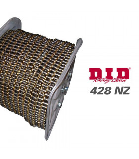 DID 428 NZ CHAIN ROLLER BLACK/GOLD (4800 LINKS)