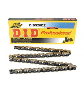 DID 520 DZ RACING CHAIN BLACK/GOLD (120 LINKS)