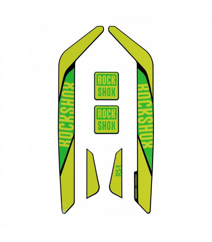 ADHESIVO NINER ROCK SHOX RS1 GREEN GREENER