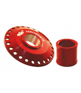 WORKS FRONT WHEEL SPACERS RED