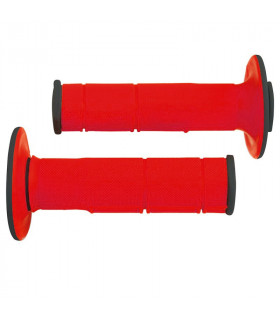 PUÑOS DOBLE INYECCION RACING  ROJO 118 mm