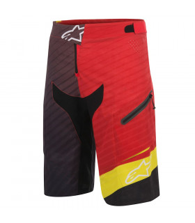 PANTALON SHORT DEPTH RED/ACID YELLOW