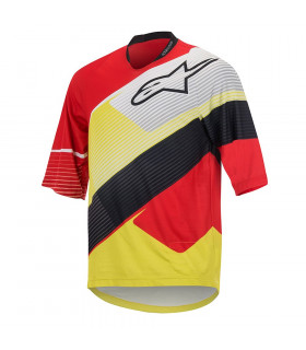 CAMISETA 3/4 DEPTH RED/WHITE/ACID YELLOW