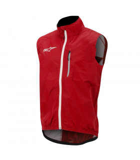 CHALECO ALPINESTARS DESCENDER WINDPROOF (ROJO/BLANCO)