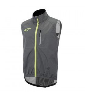 ALPINESTARS DESCENDER WINDPROOF VEST (GREY/YELLOW)