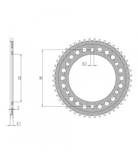 SUNSTAR ERGAL REAR SPROCKET FOR HONDA (42 TEETH)