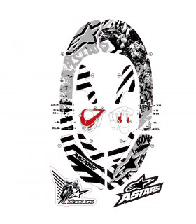 ALPINESTARS BIONIC NECK GRAPHIC KIT (GREY/BLACK)