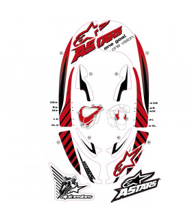 ALPINESTARS BIONIC NECK GRAPHIC KIT (RED/BLACK)