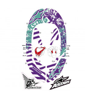 ALPINESTARS BIONIC NECK GRAPHIC KIT (VIOLET/BLUE MARINE)