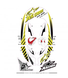 ALPINESTARS BIONIC NECK GRAPHIC KIT (YELLOW FLUO/WHITE)
