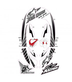 ALPINESTARS BIONIC NECK GRAPHIC KIT (GREY/WHITE)