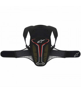 ALPINESTARS EVOLUTION BACK PROTECTOR (BLACK/WHITE/RED)