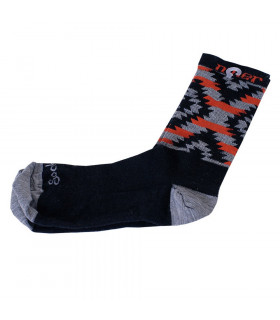 NINER SERAPE WOOL SOCKS (GREY/ORANGE)