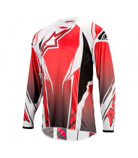ALPINESTARS A-LINE LONG SLEEVE JERSEY (RED/BLACK)