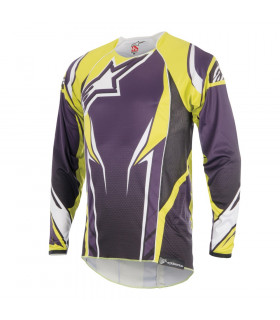 ALPINESTARS A-LINE 2 LS  JERSEY (PURPLE/ACID YELLOW)