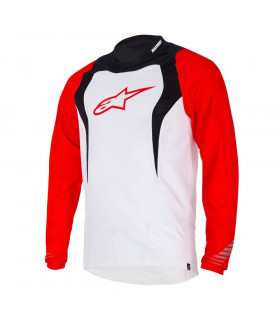 ALPINESTARS DROP LONG SLEEVE  JERSEY (WHITE/RED)